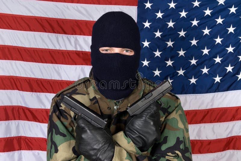 американский человек пушек стоковые изображения