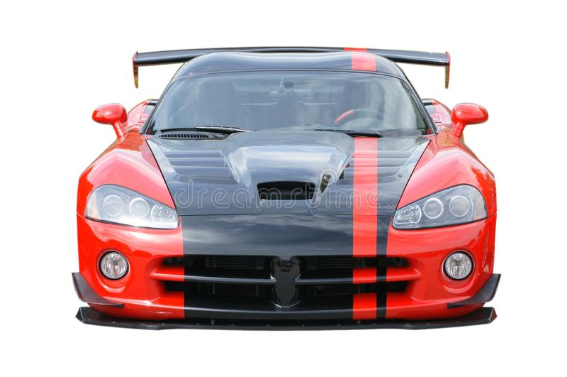 американским спорты изолированные автомобилем красные стоковое фото