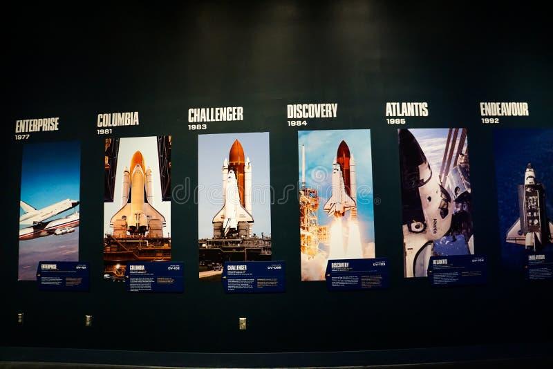 6 американских космических летательных аппаратов многоразового использования стоковое изображение