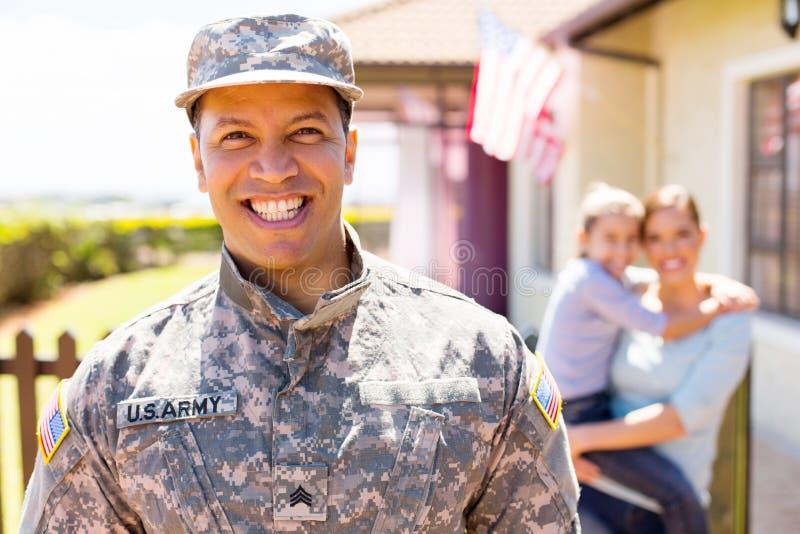 Американское воинское положение солдата стоковые фотографии rf