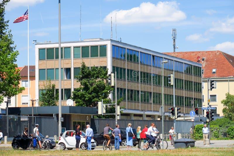 Американское генеральное консульство Мюнхен стоковое изображение