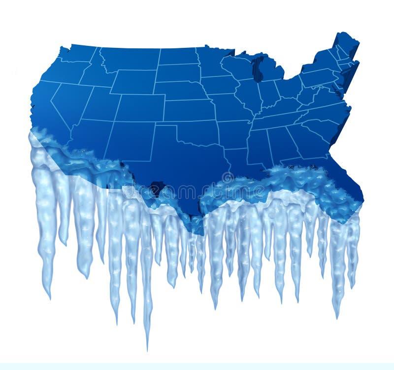 Американское глубокое - замораживание иллюстрация вектора