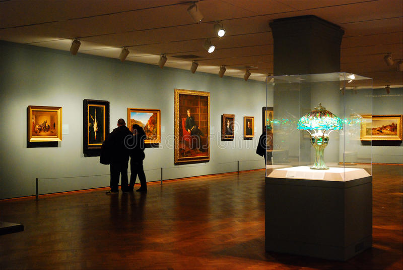 Американское крыло, институт искусства Чикаго стоковое изображение rf