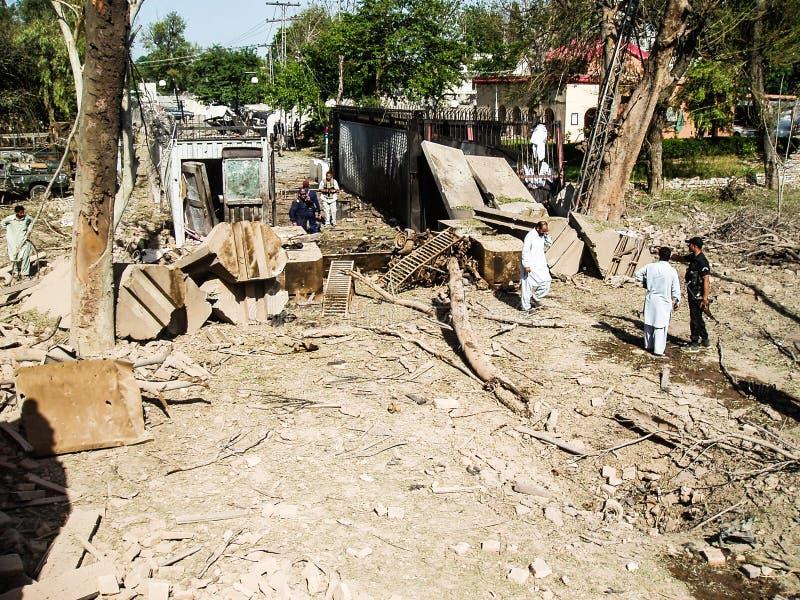 Американское нападение консулата в Пешаваре, Пакистане стоковое изображение