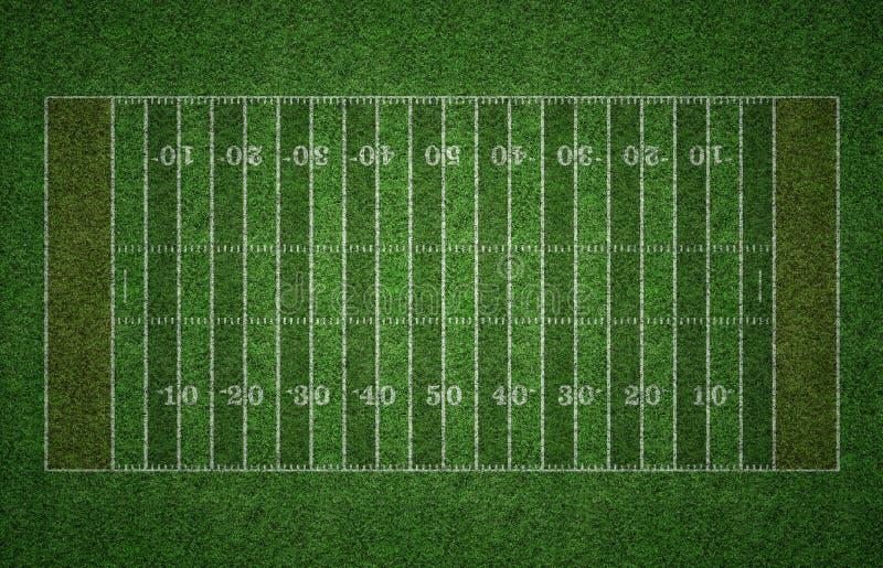 Американское футбольное поле на траве стоковые изображения rf