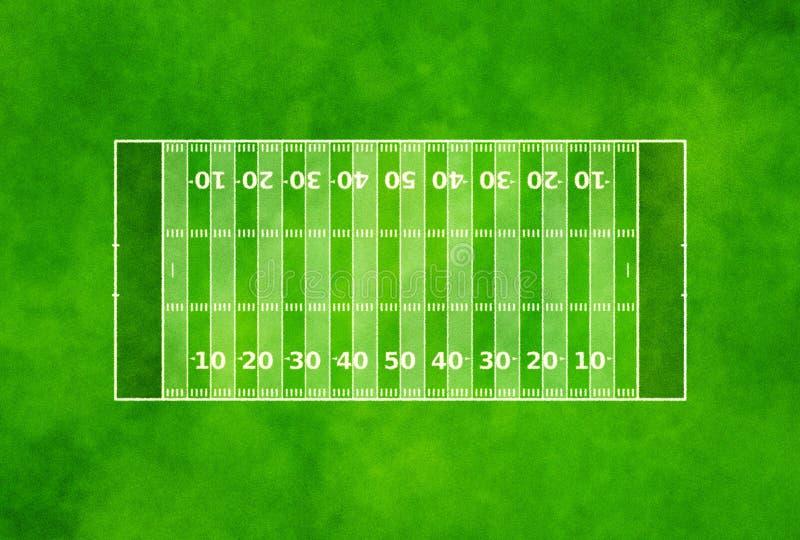 Американское футбольное поле стоковые фотографии rf