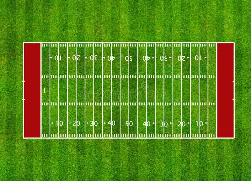 Американское футбольное поле иллюстрация штока