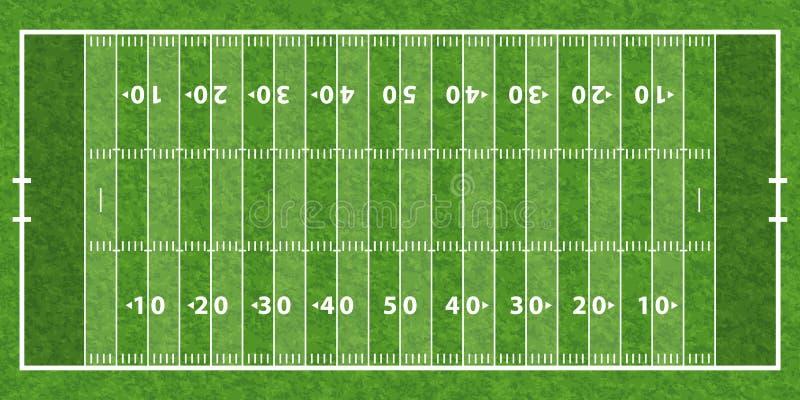 Американское футбольное поле иллюстрация вектора