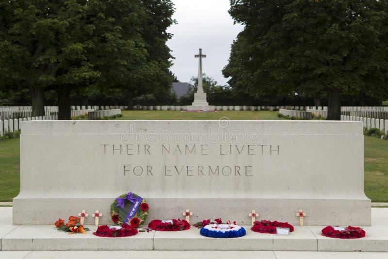 Американское cementery в Normandia стоковое изображение