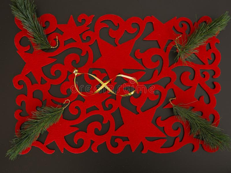 Американское placemat рождества с украшением стоковые фото