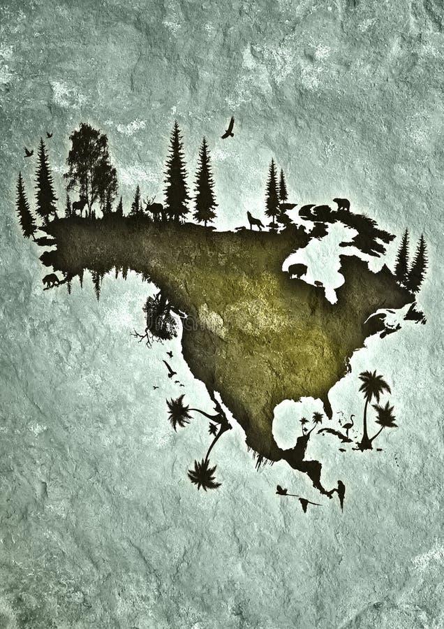 америка северная иллюстрация вектора