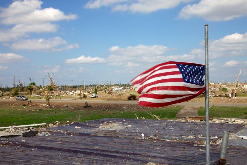 Америка храбрый торнадо 2011 Joplin стоковое фото rf