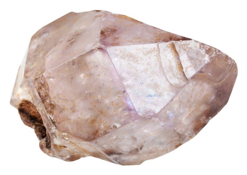 Аметист в изолированном кристалле кварца стоковое фото rf