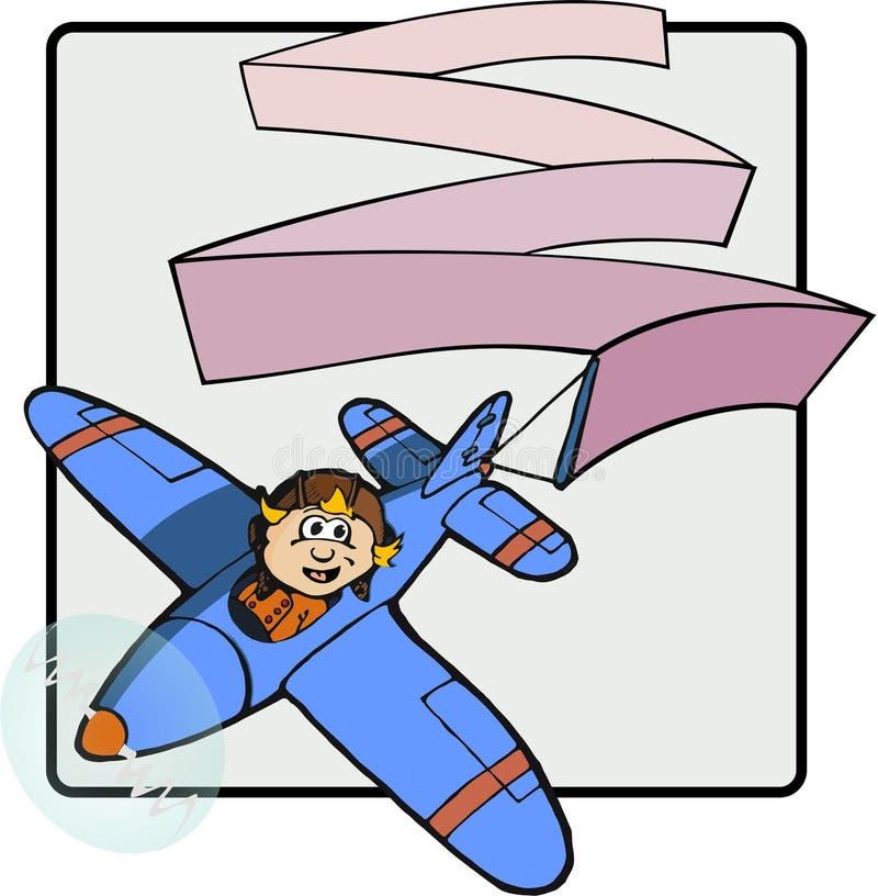 Ами с воздушным знаменем бесплатная иллюстрация