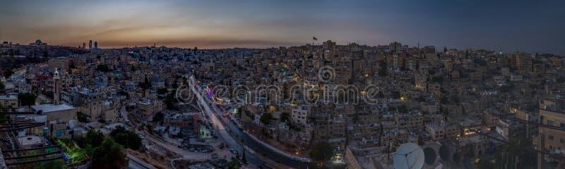 Амман выравнивая панораму стоковое изображение