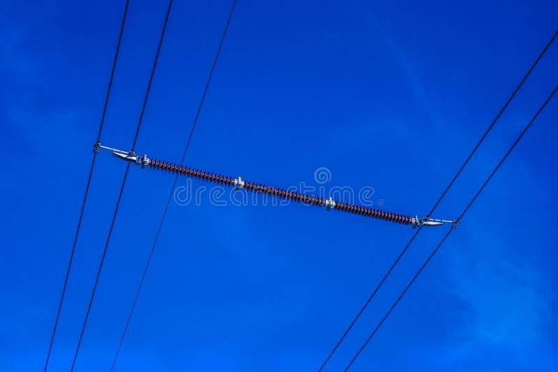 Амортизатор линии электропередач стоковое фото