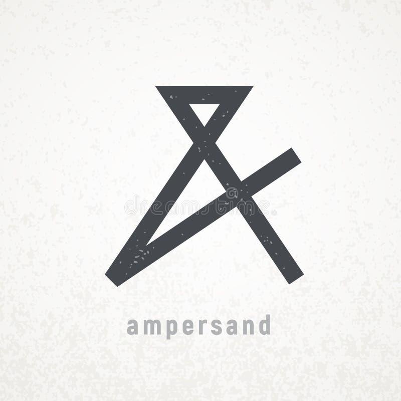 амперажей Элегантный символ вектора на предпосылке grunge иллюстрация штока