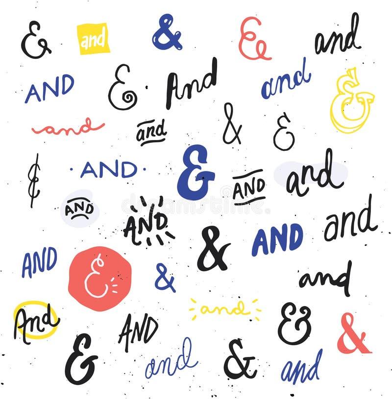 Амперсанды и Catchwords нарисованные рукой бесплатная иллюстрация