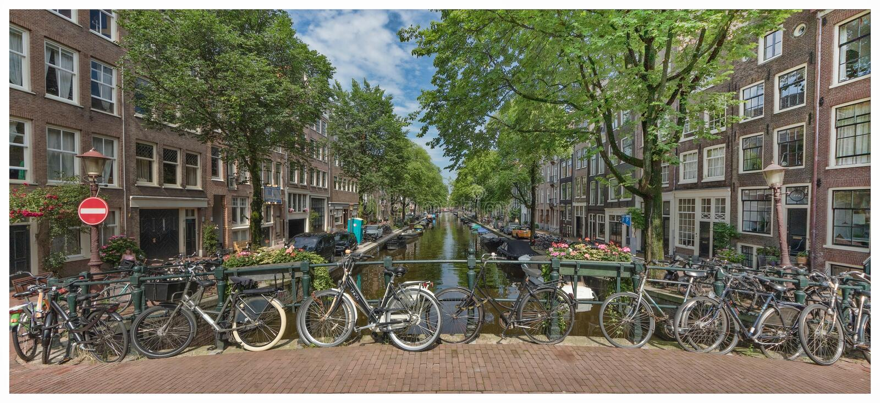 Амстердам во время лета стоковое изображение rf