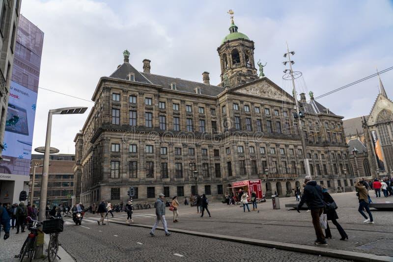 Амстердам королевский дворец стоковое изображение rf