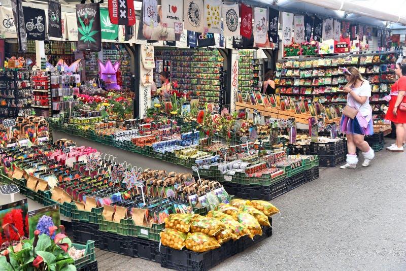 Амстердам Bloemenmarkt стоковые фотографии rf