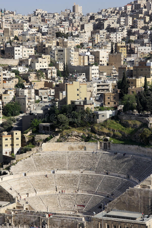 Амфитеатр в Аммане, Джордане стоковые изображения rf