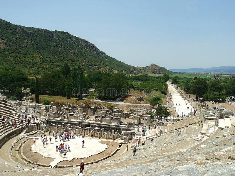 Амфитеатр в Ephesus (Teatr) стоковое изображение