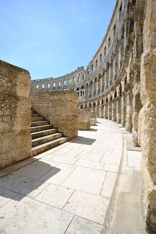 Амфитеатр в Pula стоковые фото