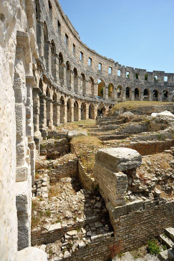 Амфитеатр в Pula стоковые изображения