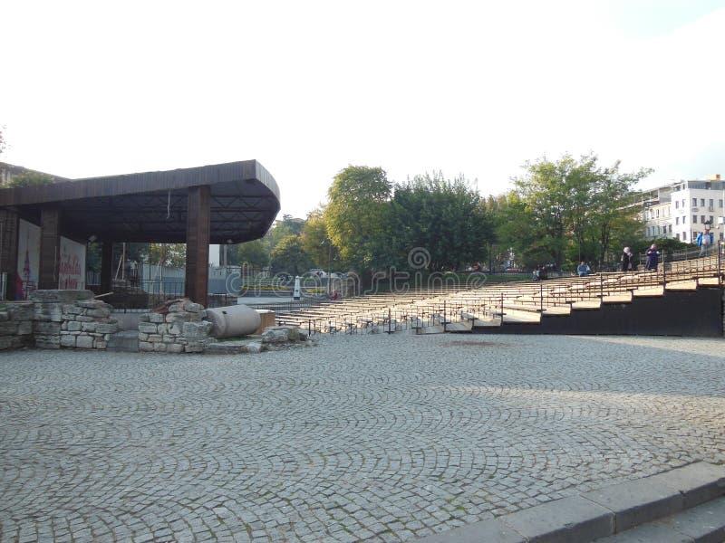 Амфитеатр парка Mehmet Akif Ersoy, Стамбул стоковая фотография