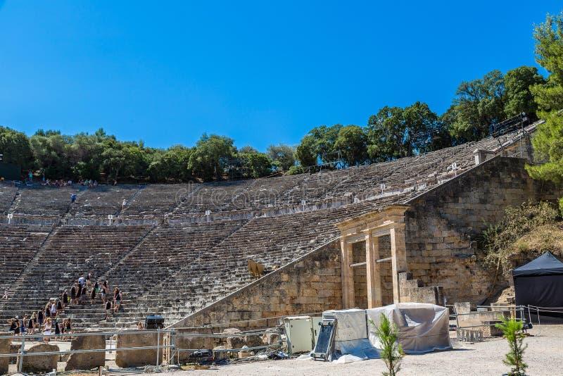 Амфитеатр Epidaurus в Греции стоковое изображение