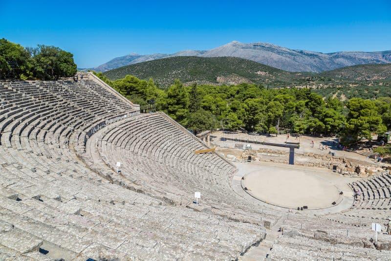 Амфитеатр Epidaurus в Греции стоковая фотография rf