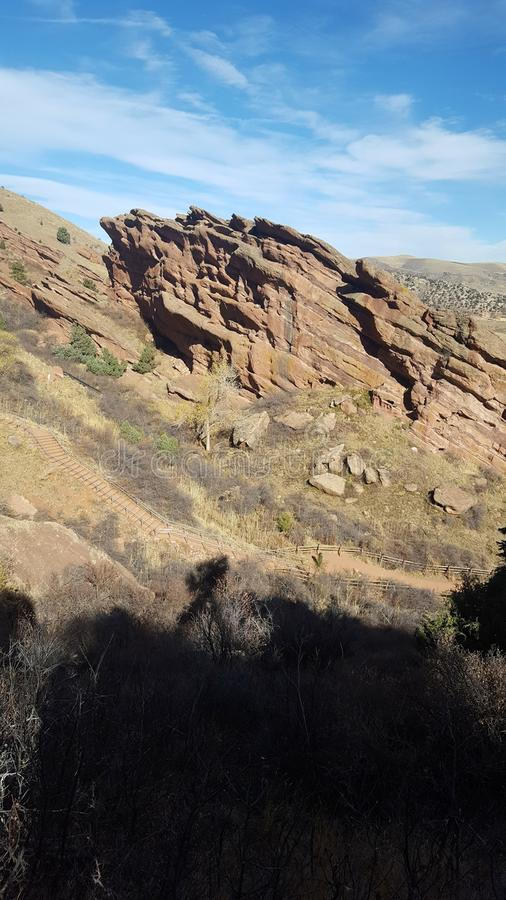 Амфитеатр Redrocks в Колорадо стоковое изображение