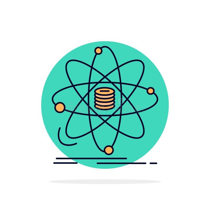 Анализ, данные, информация, исследование, вектор значка цвета науки плоский иллюстрация вектора