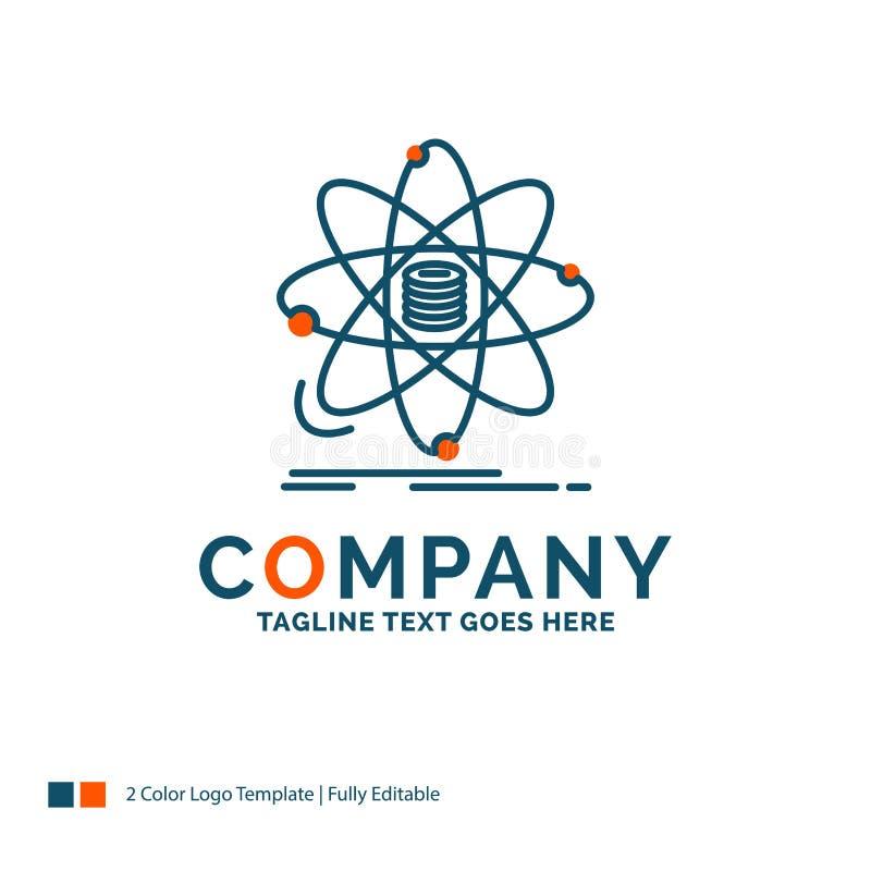 Анализ, данные, информация, исследование, дизайн логотипа науки bluets иллюстрация штока