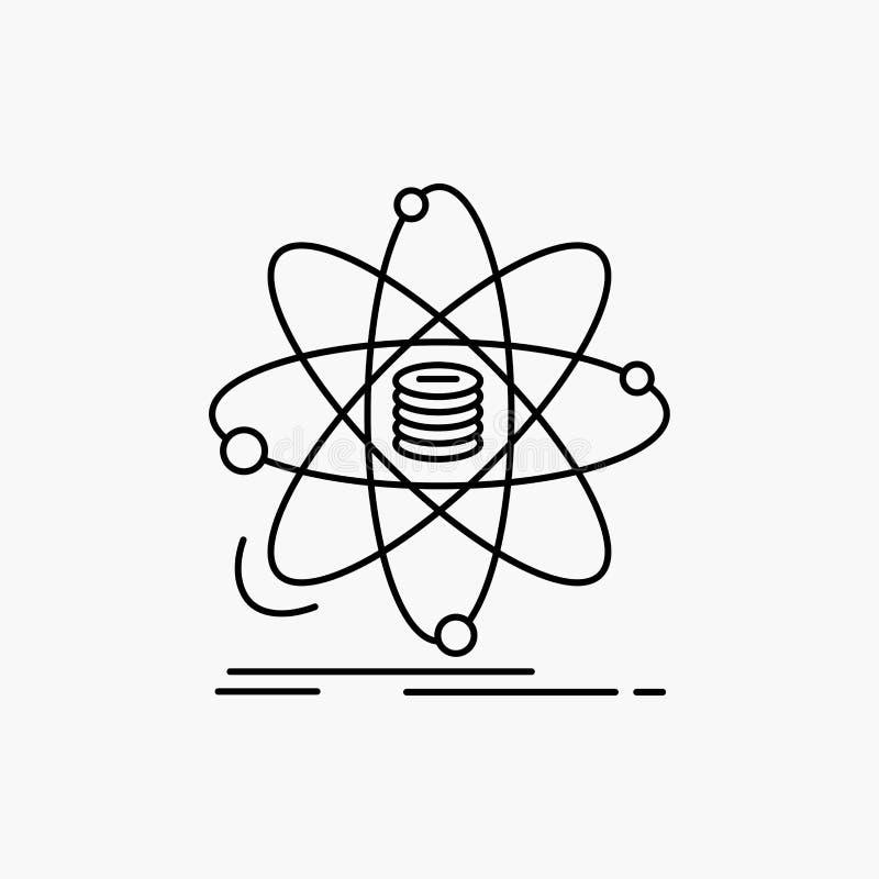 Анализ, данные, информация, исследование, линия значок науки r иллюстрация вектора