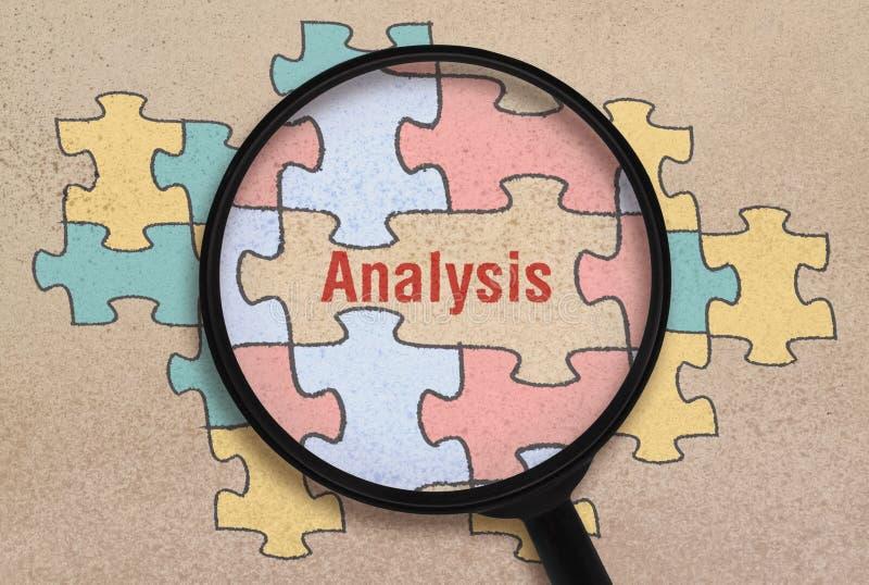 Анализ и головоломка слова стоковое фото rf