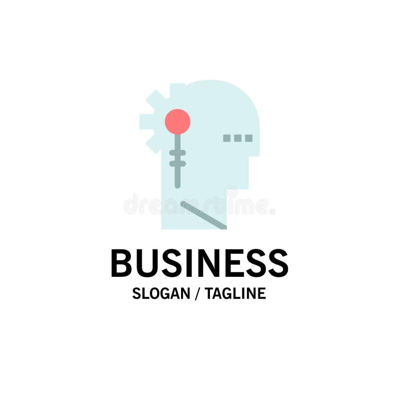 Аналитик, критический, человеческий, информация, обрабатывая шаблон логотипа дела r иллюстрация вектора