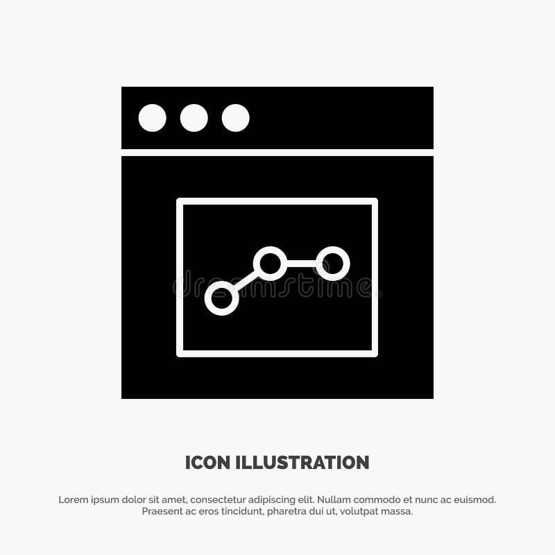 Аналитик, сообщение, интерфейс, вектор значка глифа потребителя твердый бесплатная иллюстрация