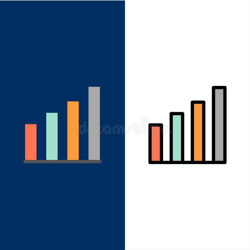 Аналитический, интерфейс, сигнал, значки потребителя Квартира и линия заполненный значок установили предпосылку вектора голубую иллюстрация вектора