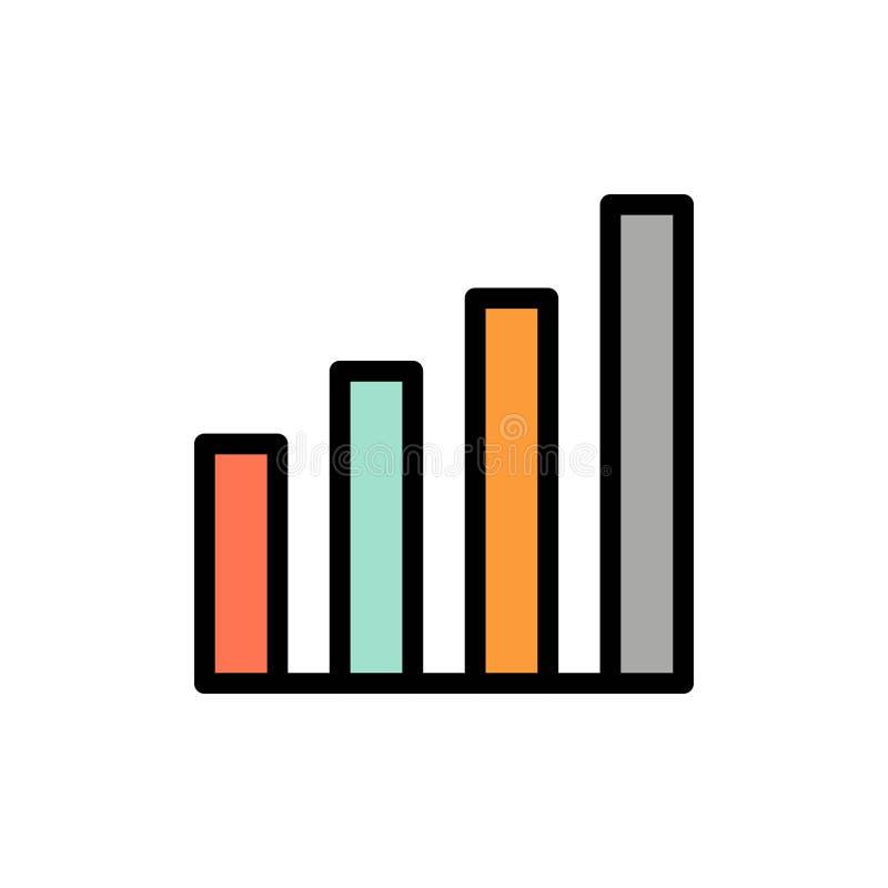 Аналитический, интерфейс, сигнал, значок цвета потребителя плоский Шаблон знамени значка вектора иллюстрация штока