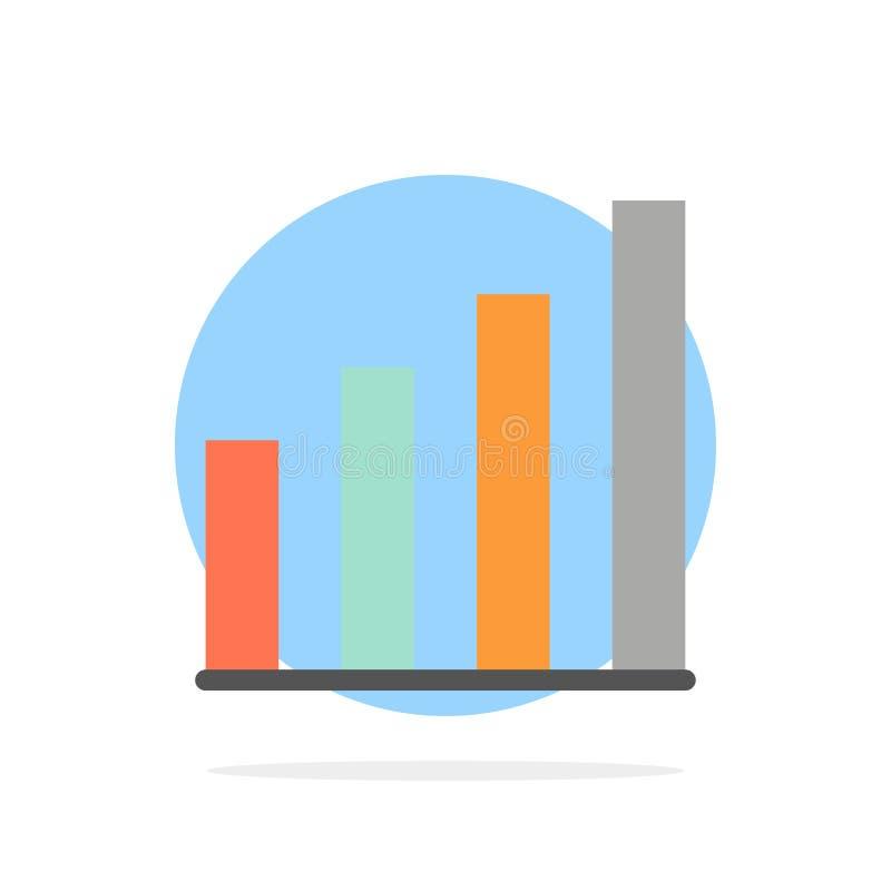 Аналитический, интерфейс, сигнал, значок цвета предпосылки круга конспекта потребителя плоский бесплатная иллюстрация