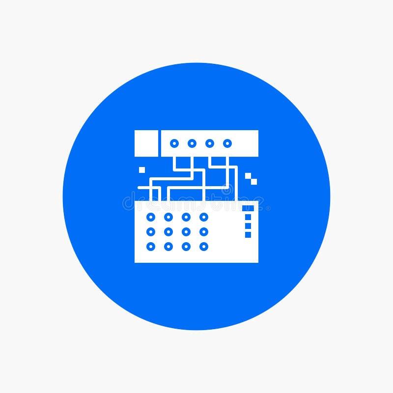 Аналог, соединение, прибор, модуль, звук иллюстрация вектора