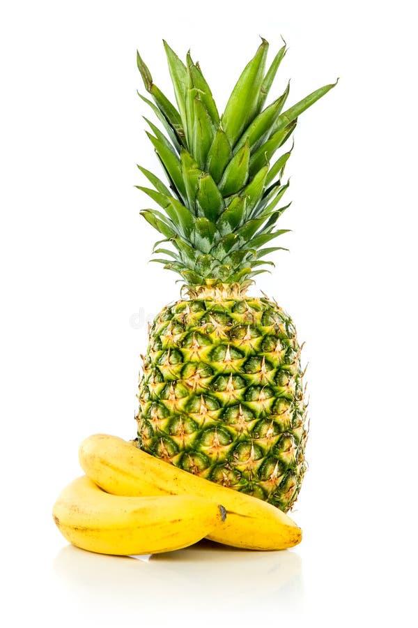 Ананас и банан стоковая фотография rf