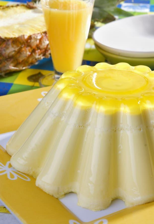 ананас студня десерта стоковые изображения