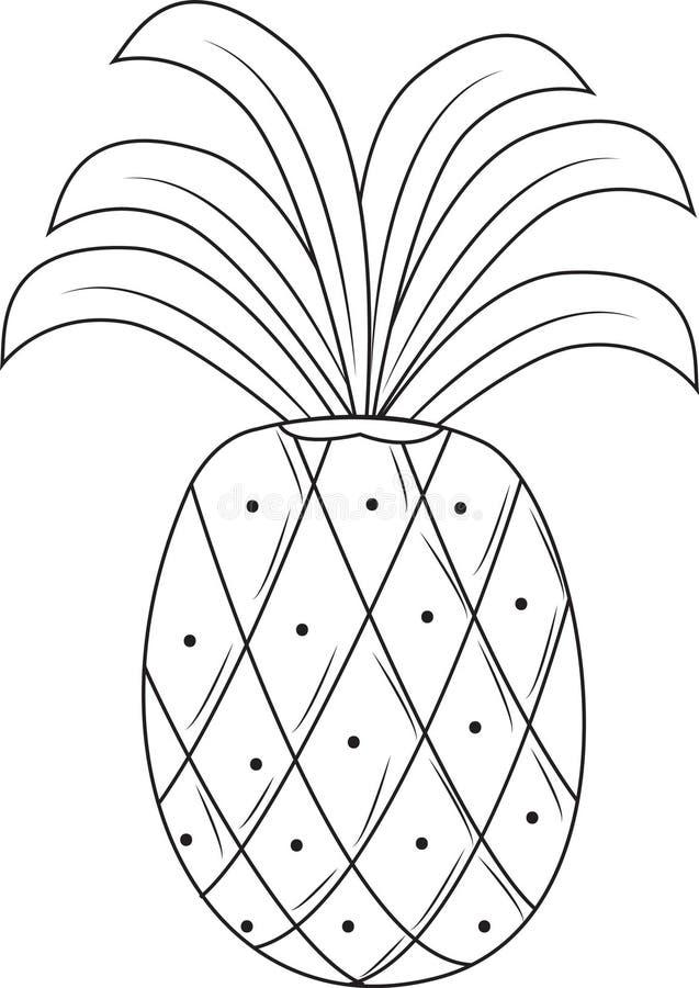 Ананас иллюстрация вектора