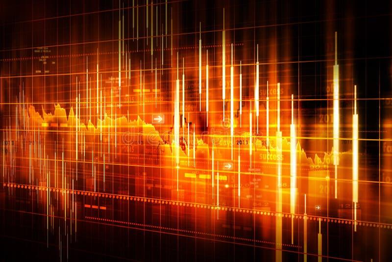 Анализ диаграммы фондовой биржи иллюстрация вектора