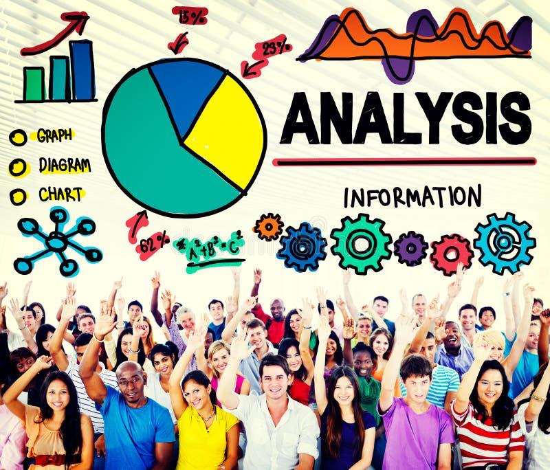 Аналитик анализа анализирует концепцию статистик данным по данных бесплатная иллюстрация