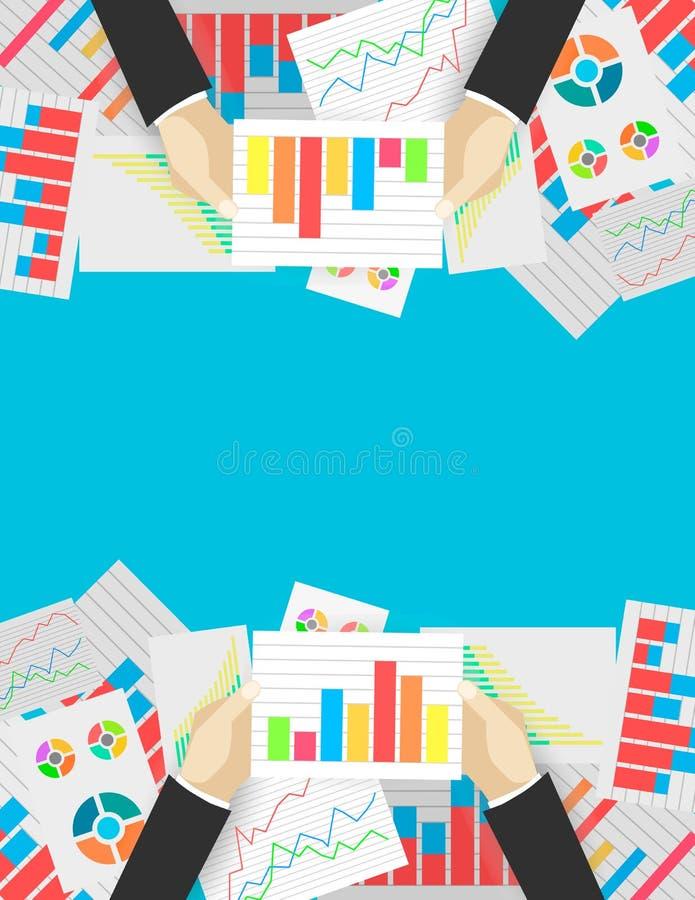 Аналитик дела и финансовая проверка иллюстрация вектора