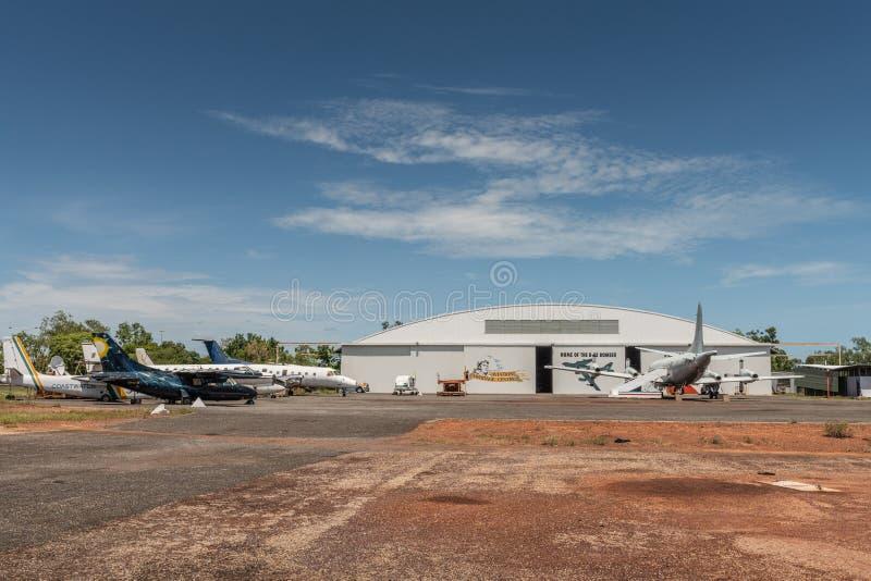 Ангар австралийского центра наследия авиации, Дарвина стоковое фото rf
